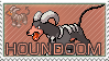 Houndoom Stamp by kuro-stamps