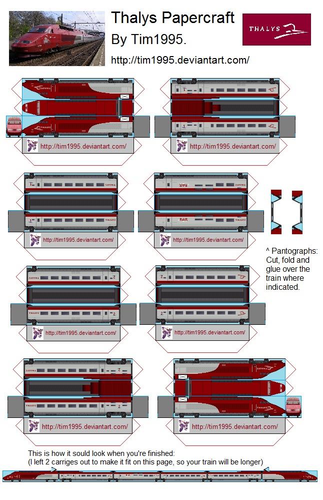 Steam Train Papercraft Templates for Pinterest