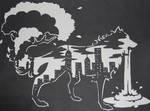 Wolf Cutout - Urbanization
