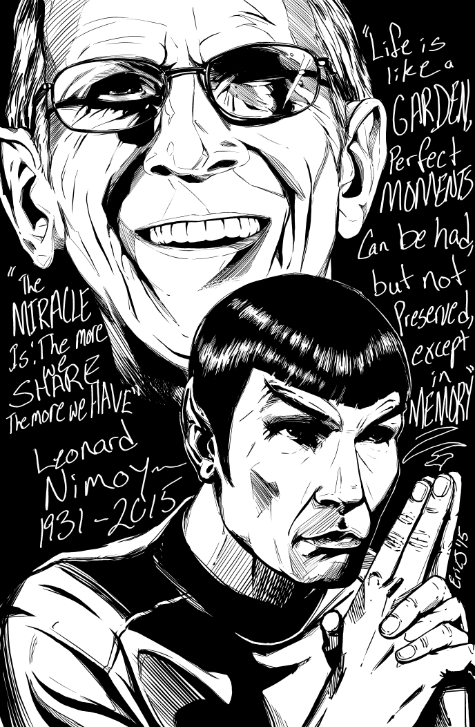 My tribute to Mr. Nimoy by EricJ-art