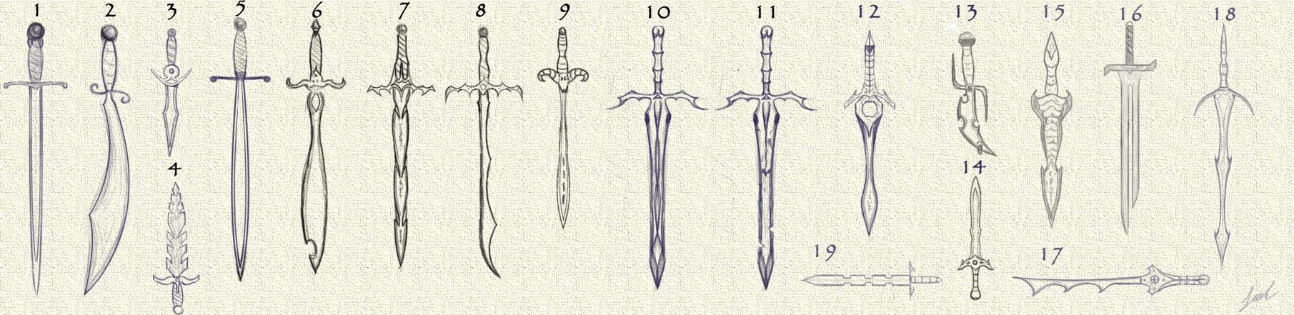 Medieval swords by jbrownsts