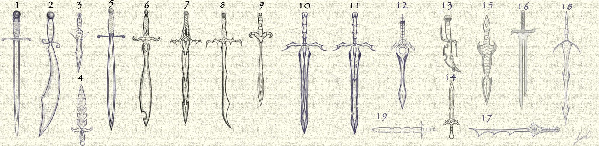 Medieval Swords by jbrownsts on DeviantArt