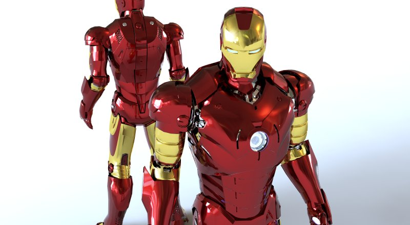 Iron man 3d model by arminmod on deviantart for Maison d iron man