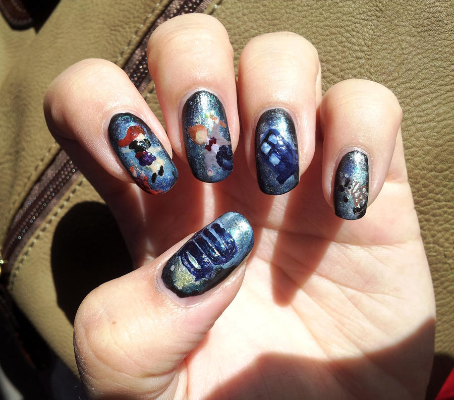 Doctor who nail art by aniapaluch on deviantart doctor who nail art by aniapaluch prinsesfo Choice Image