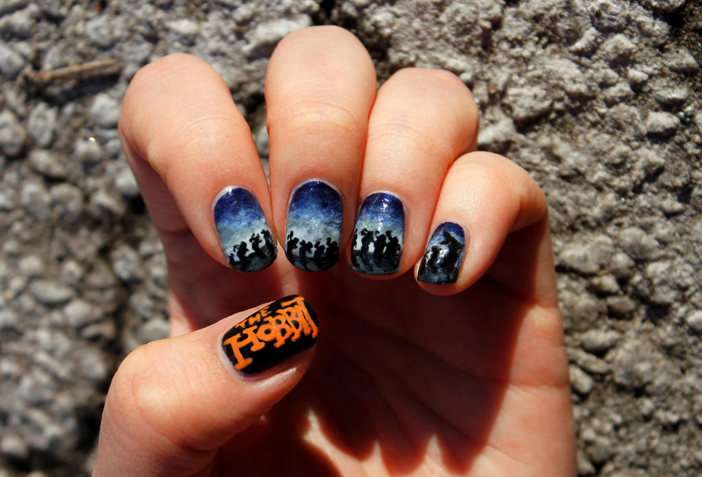 The Hobbit Nail Art - Riddles in the Dark by aniapaluch on DeviantArt