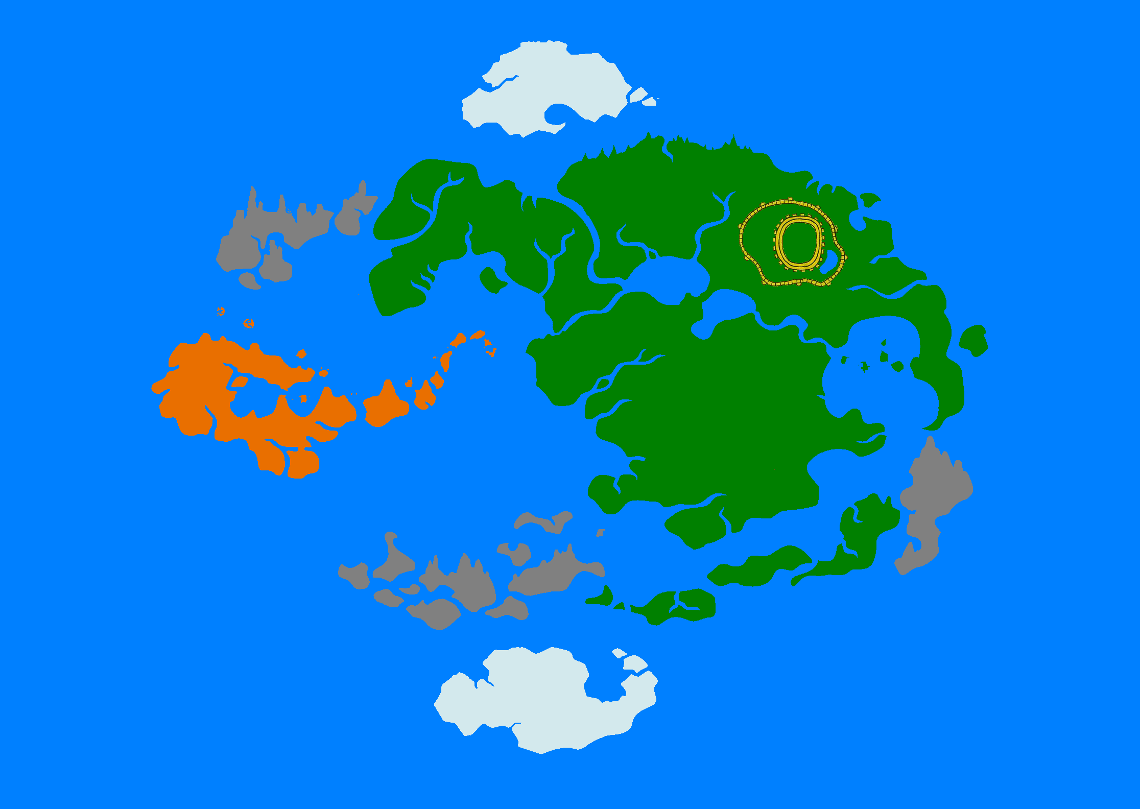 Avatar The Last Airbender Map By 33k7