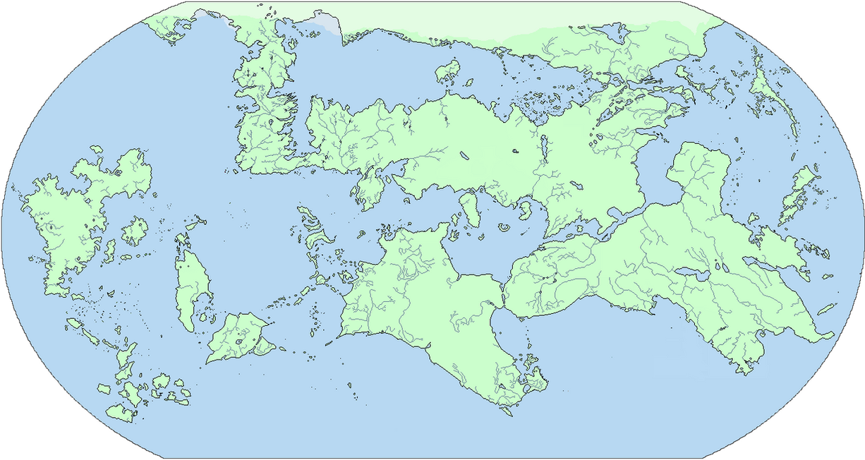 Blank Map Of My A Song Ice And Fire Old World By 33k7