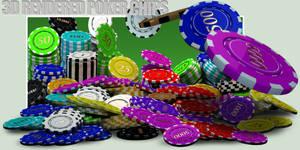 3D Rendered Poker Chips Transparent Png Files
