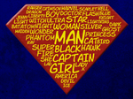 Word Cloud of superhero names