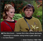 Star Trek Chekhov pic with writer Chekhov quote