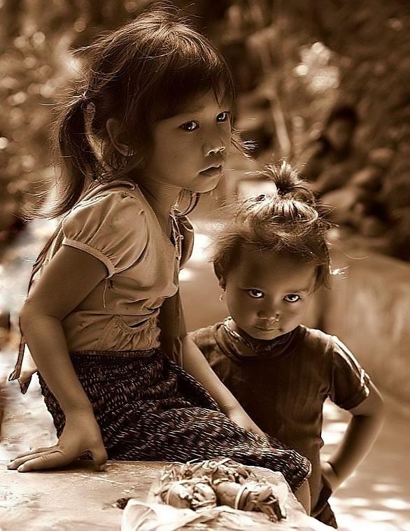 Infants of Luang Prabang by Suppi-lu-liuma