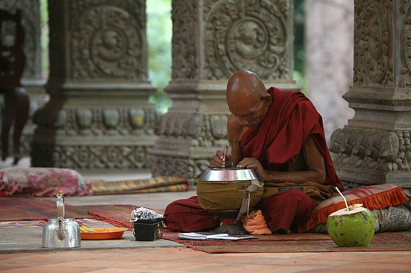 Monk writing by Suppi-lu-liuma