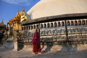 Prayer wheels of Swayambhunath by Suppi-lu-liuma