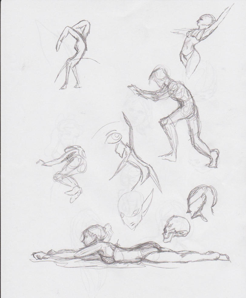 Body Sketches Practice by musicalartfreak