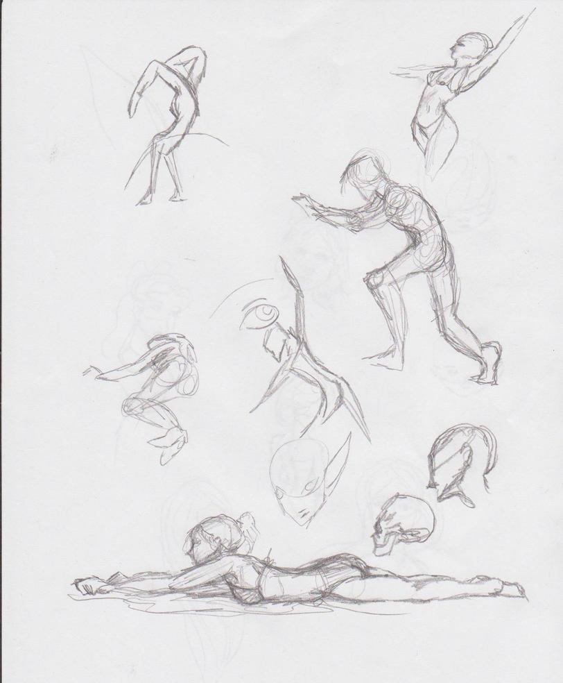 Body Sketches Practice by musicalartfreak