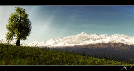 Grassy hill by Wetbanana
