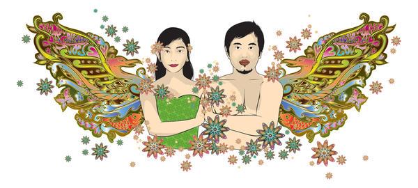 my wedding illustration by yahyayeye