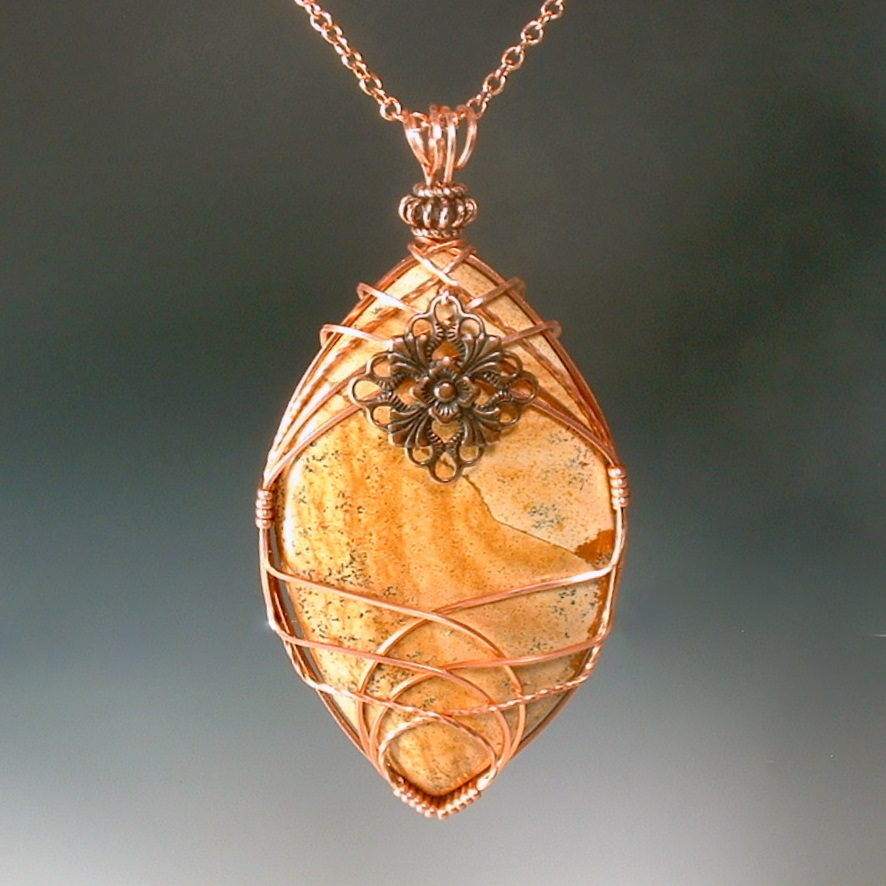 Picture jasper criss cross wire wrapped pendant by picture jasper criss cross wire wrapped pendant by healingcrystaljewel8 mozeypictures Image collections