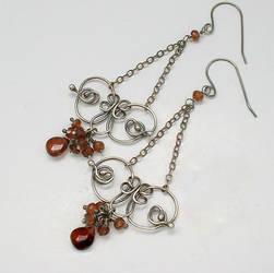 Red Garnet Argentium Butterfly Earrings by healingcrystaljewel8