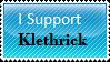 I support Klethrick_Stamp by Horseste