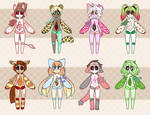 Necrobie Summers End Adopts - SET PRICE! CLOSED