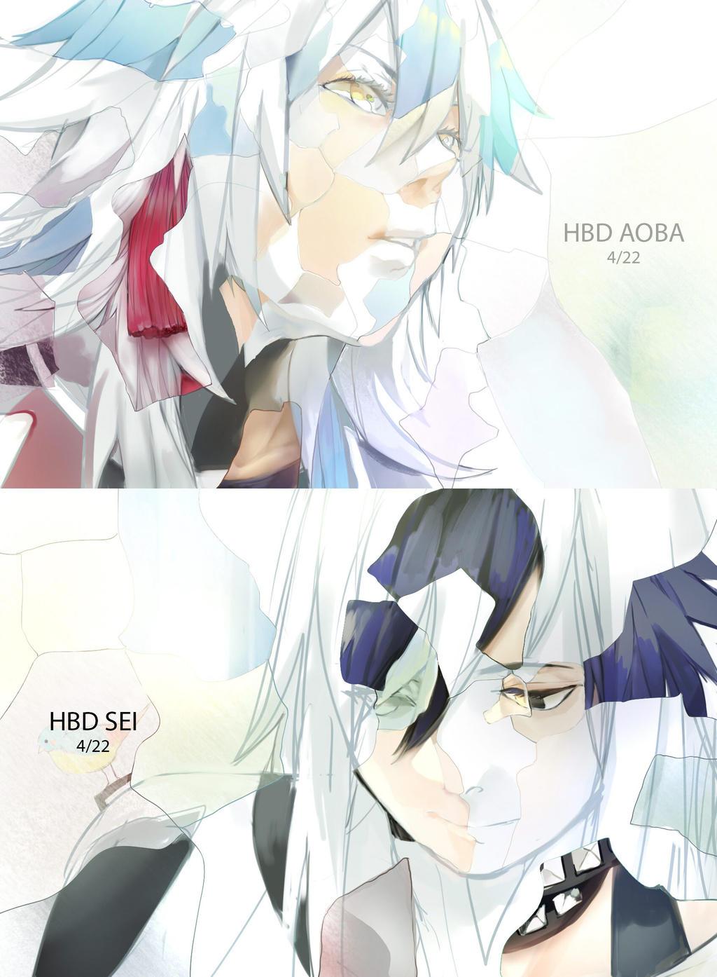 HBD Aoba and Sei by kohiu