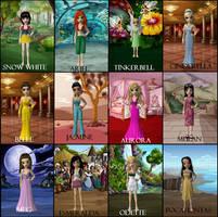 Disney Princesses by ElanoreDarkholme