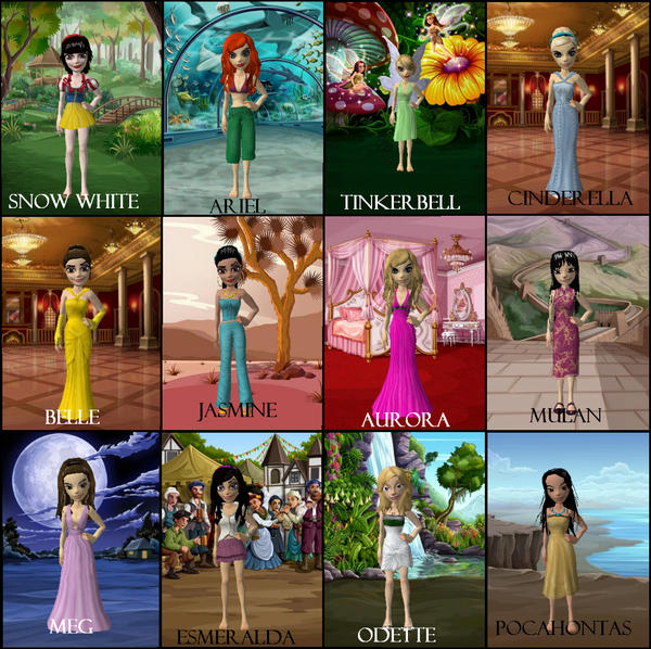 Disney Princesses by ElanoreDarkholme