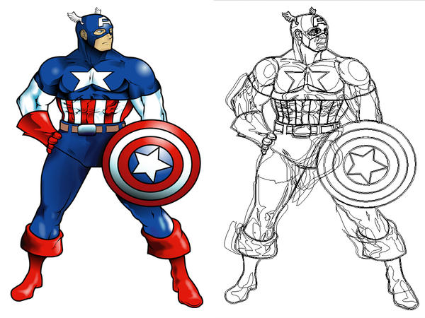 Dibujo animado de capitan america - Imagui