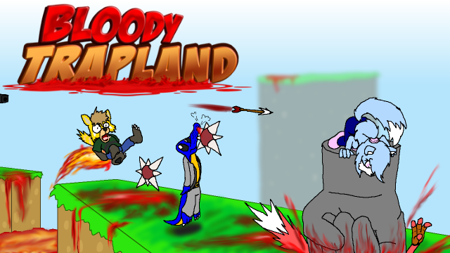 Bloody Trapland Title Card by Squeaky-the-Zepa