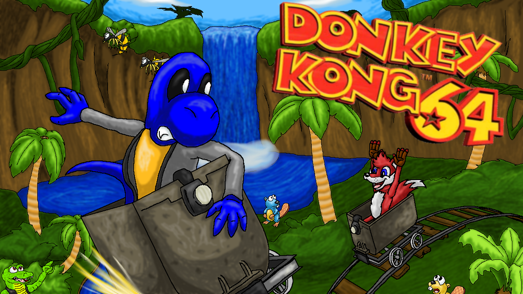 Donkey Kong 64 Title Card by Squeaky-the-Zepa