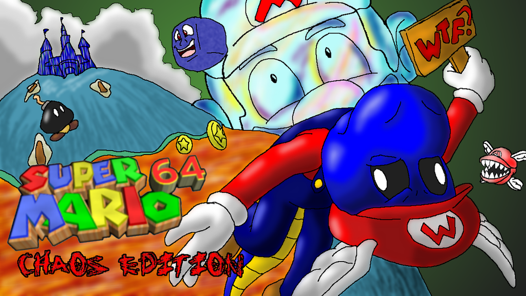 Super Mario 64 Chaos Edition Title Card by Squeaky-the-Zepa