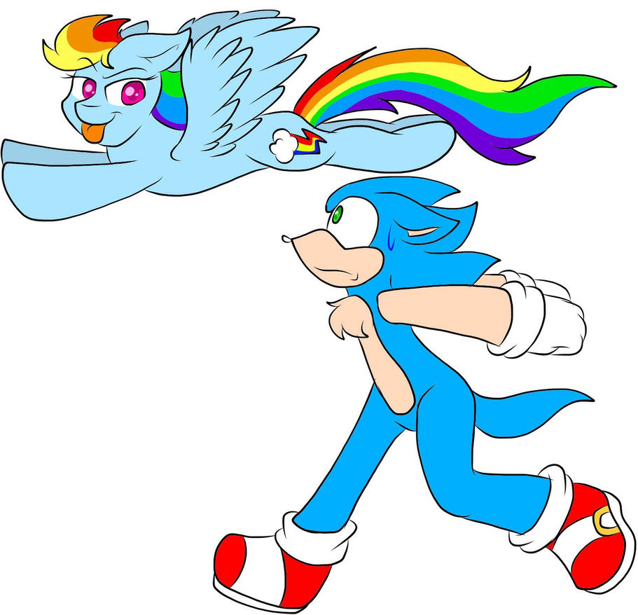 Rainbow Dash do the sonic rainboom. by OceanHorse00 on