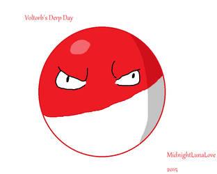 Voltorb's Derp Day by MidnightLunaLove