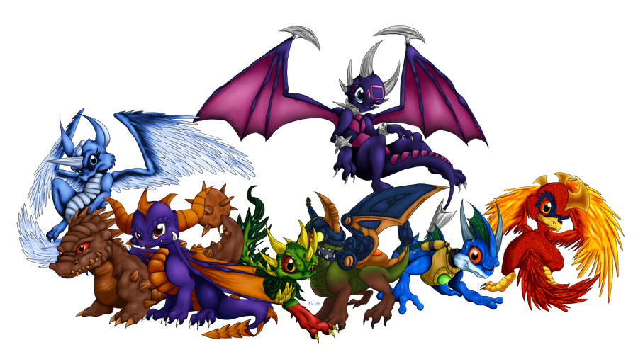The Dragons of Skyland by Cattensu