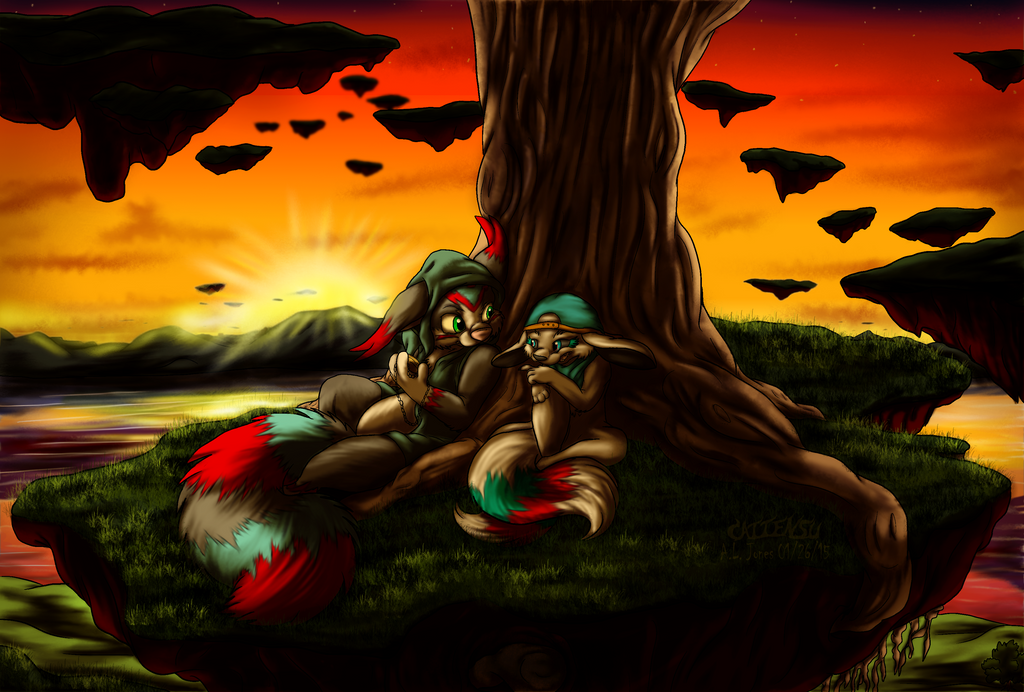 Island of the Old Dead Tree by Cattensu