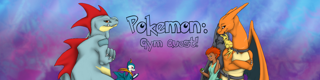Pokemon Gym Quest Comic Banner by Cattensu
