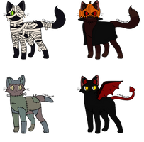 Halloween Adopts [OPEN] by SammichPup