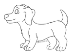 [F2U] Wiener dog lineart
