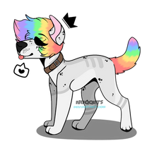 rainbow pup [closed] by SammichPup