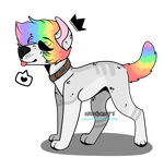 rainbow pup [closed]