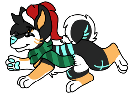 holly jolly pupper by SammichPup