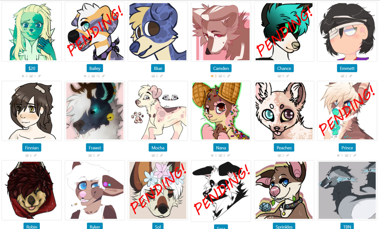 OPEN FOR OFFERS!!!! - UPDATED by SammichPup