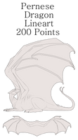 Pernese Dragon Lineart 2