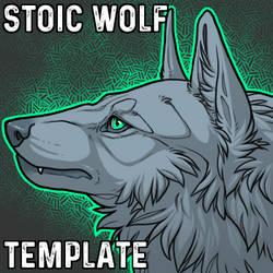 Stoic Wolf Headshot Template