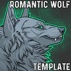 Romantic Wolf Headshot Template