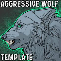 Aggressive Wolf Headshot Template