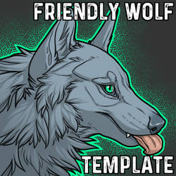 Friendly Wolf Headshot Template