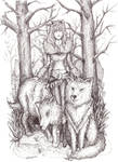 .Trees and wolves.