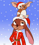 Merry Christmas from Gizmo, and me! - Skelly-Doll